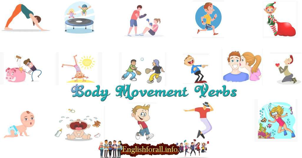 Body movement verbs in English