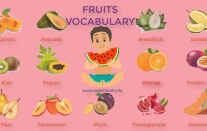 Fruit Vocabulary in English