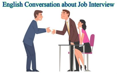 English Conversation about Job Interview