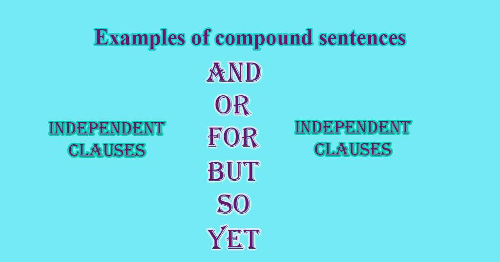 Example of compound sentence