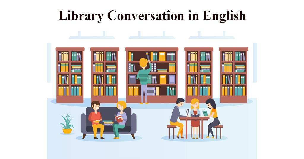 conversation between two friends in library