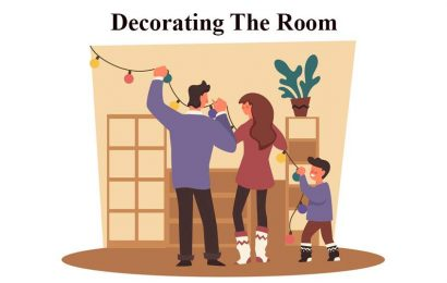 English conversation about Decorating the room